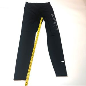 Nike Pants & Jumpsuits - NIKE Dri-fit Running Tights In Black/ Silver Med